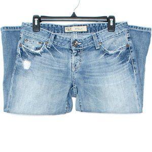 BKE Jeans Capris Stella Distressed Blue 27 CV